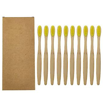 Colorful Natural Bamboo Toothbrush Set
