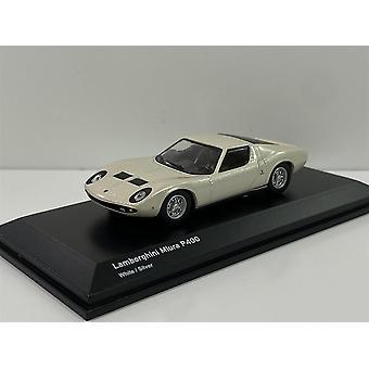 Lamborghini Miura P400 White/Silver 1:64 Scale Kyosho 6930A3