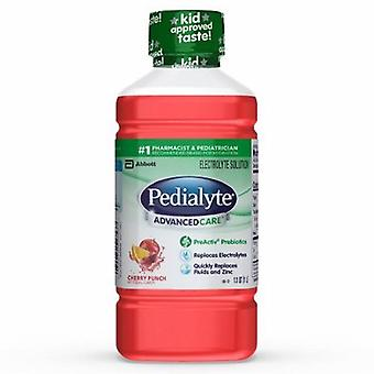 Abbott Nutrition Pediatric Oral Electrolyte Solution Pedialyte AdvancedCare Cherry Punch Flavor 1 Liter Bottle Ready, 1 Each
