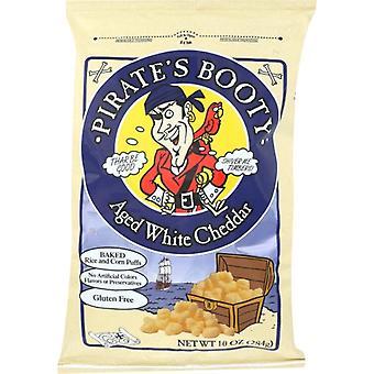 Pirate Brands Puffs Pirate Bty Chdr Wht, Cas de 6 X 10 Oz