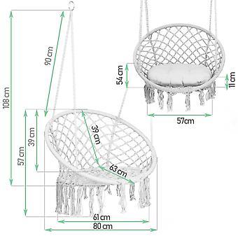 Hängestuhl Graustorchnest – 80x63 cm – Kissen inklusive