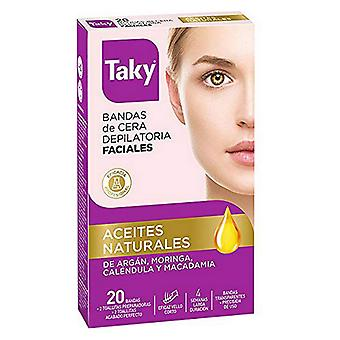 Facial Hair Removal Strips Aceites Naturales Taky