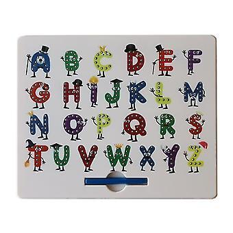 Numéro d'alphabet coloré alphabet plastique boule de dessin magnétique jouet pour enfants az12367