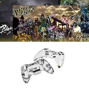 Chrome Silver Modded Full Shell Gold Buttons For Xbox 360 Wireless Controller