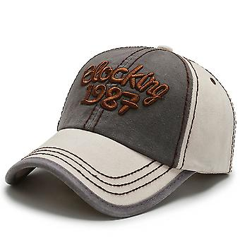 Spring and Autumn Hats Color Block Embroidered Baseball Cap