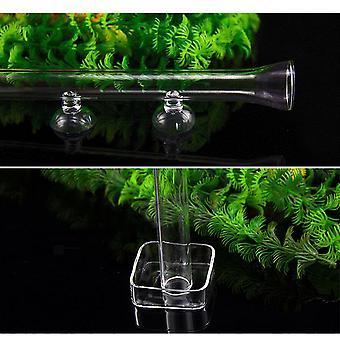 20-45Cm aquarium shrimp glass feeding tube food feeder fish tank suction cup