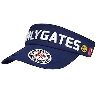 Golf Hat, Leisure Sport, Empty Top, Sun Hat, Embroidered Sports Golf Cap(Blue)