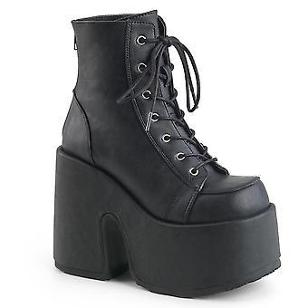 Demonia Women's Boots CAMEL-203 Blk Vegan Leather