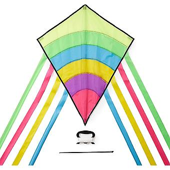 Kleine Regenbogen Kinder-Drachen - Flugdrachen Einleiner - Großartige Outdoor-Aktivität für