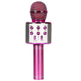 Ktv-wireless Karaoke Microphone-black(Rose Red)