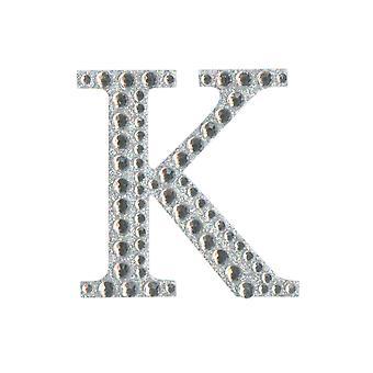 5cm Klar Selvklebende Diamante Bokstaver - K | Diamante Edelstener Utsmykninger