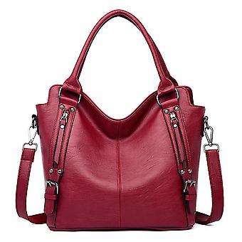 Vintage soft Pu leather luxury handbags women bags Designer Large ladies hand tote bag shoulder