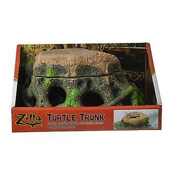 "Zilla Freestanding Floating Basking Platform - Turtle Trunk - 1 Pack - (11.75""L x 9.5""W x 5.25""H)"