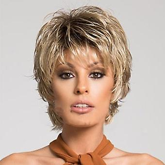 Women Short Straight Natural Lifelike Wig