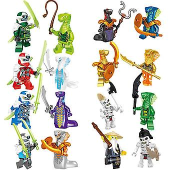 16 Phantom Ninja Blocs de construction Poupées assemblés Jouets figurines