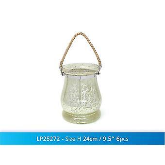 Luz de lanterna de vidro pendurados chá vela titular da casa decoração