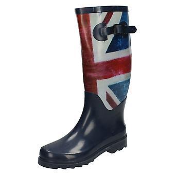 Womens Spot On Union Flag Design Wellington Boots