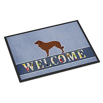 Portugalski pies pasterski pies Zapraszamy wewnątrz lub na zewnątrz Mat 18 x 27