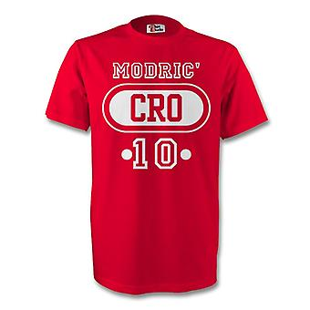Luka Modric Kroatien Cro T-Shirt (rot) - Kids