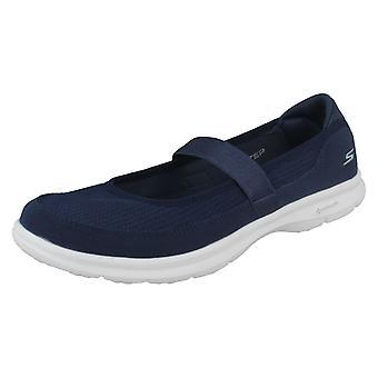 Damen Skechers Cross Strap flache Schuhe gehen Schritt Original