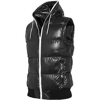 Urban classics - HOODED BUBBLE jacket black