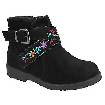 Spot On Girls Suede Ankle Boots