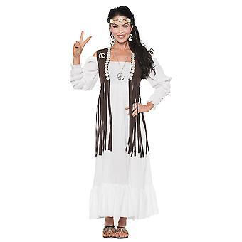 Earth Child 1970s Bohemian Hippie Hippy Peace Retro Groovy Women Costume