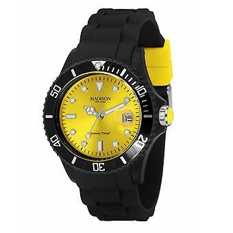 Candy tijd door Madison N.Y.. horloge unisex U4486-02-1 geel