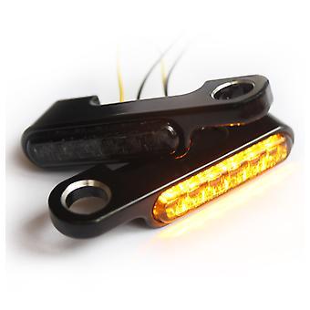 ברזל אופטיקה אופנוע LED Flasher + מחזיק Flasher עבור אביזרי הכידון