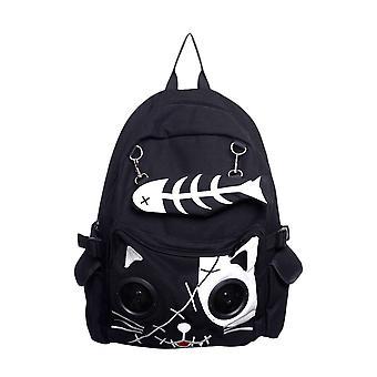 Proibido gato mochila com construído em alto-falantes