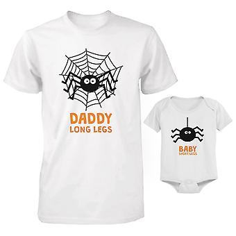 Lange benen spinnen vader en Baby Matching T-shirt en Romper