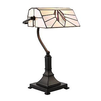 Interioarele 1900 Astoria single Light Tiffany bancheri LAMP cu art deco
