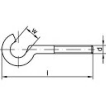 Tornillo doblado TOOLCRAFT ganchos 50 mm electrocincados acero M5 100 PC