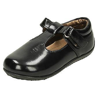 Girls Spot On T-Bar Flat Shoes H2131