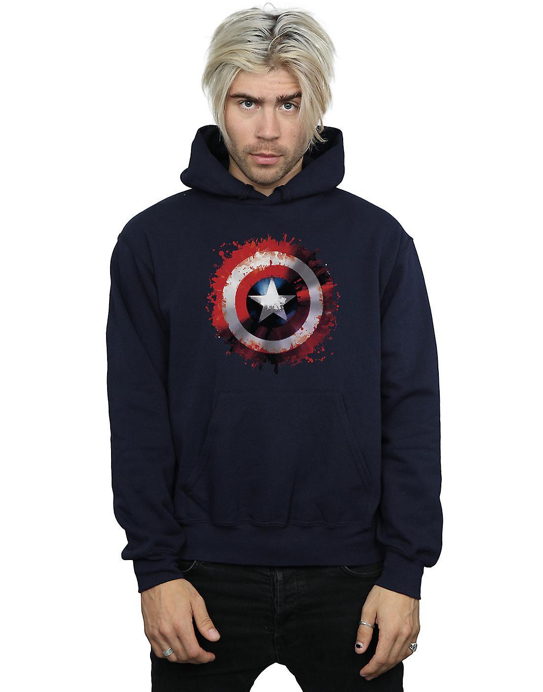 Marvel Men's Avengers Captain America Art Shield Hoodie