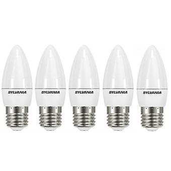 5 x Sylvania ToLEDo Candle E27 V4 5.5W Homelight LED 470lm [energiklass A +]