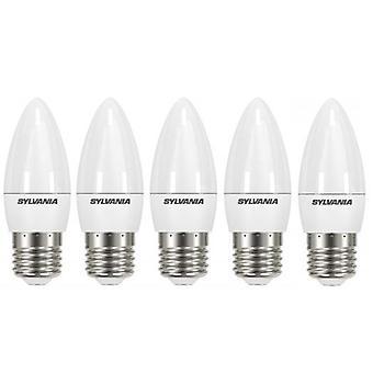 5 x Sylvania ToLEDo Candle E27 V4 5.5W Homelight LED 470lm [Energy Class A+]