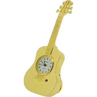 Gift Time Products Classic Guitar Miniature Clock - Gold