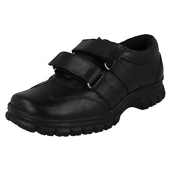 Boys Malvern Double Strap School Shoes