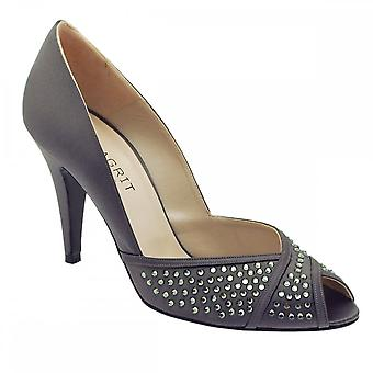 Magrit Peep Toe Court With Diamonte