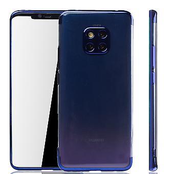 Mobile Shell dla Huawei Mate 20 Pro niebieski - jasne - TPU silikonu przypadku tylną pokrywę Pokrywa ochronna w niebieski przezroczysty / błyszczący krawędzi