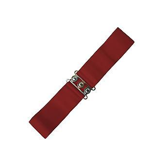 Baile días cinturón elastizado Vintage Borgoña S