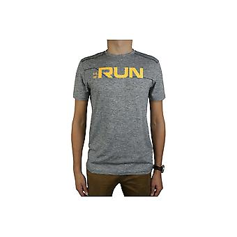 Under Armour Run Front Graphic SS Tee 1316844-952 Mens T-shirt