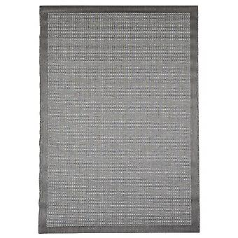Outdoor-Teppich für Terrasse / Balkon grau Essentials Chrome Grey 200 / 290 cm Teppich Indoor / Outdoor - für drinnen und draussen