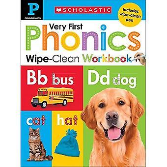 Wipe-Clean werkmap: Pre-K allereerste Phonics (scholastische kinderen) (scholastische kinderen)