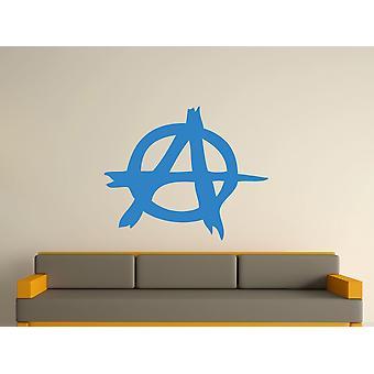 Anarquía símbolo Wall Sticker Art - azul olímpico