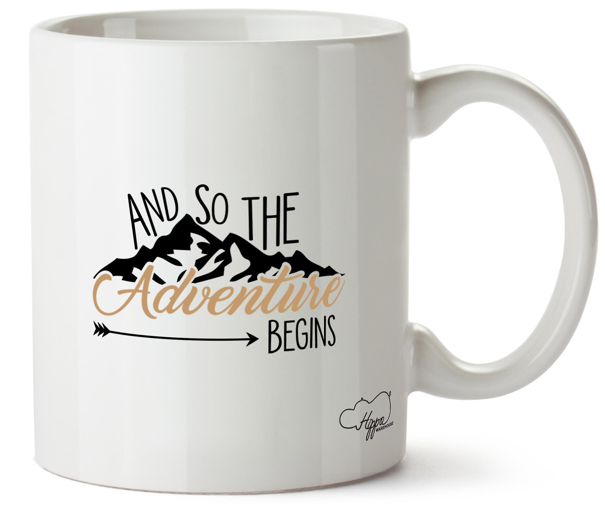 Hippowarehouse And So The Adventure Begins 10oz Mug Cup