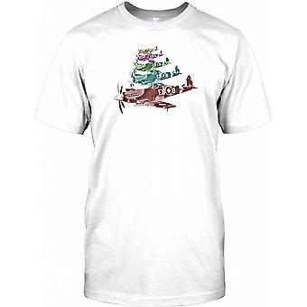 Spitfire Pop Art Design - WW2 inspirierte Herren-T-Shirt