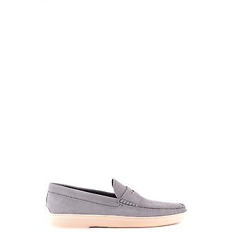 Tod's Ezbc025051 Men's Grey Leather Loafers