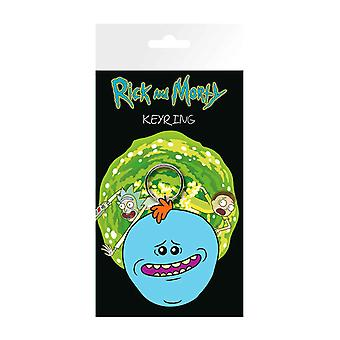 Rick And Morty Keyring Keychain Meeseeks face new Official Rubber